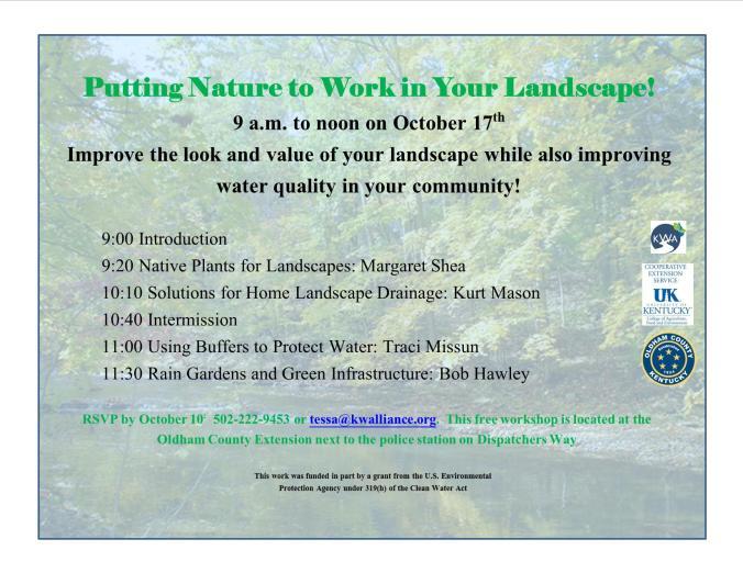 natural landscaping workshop