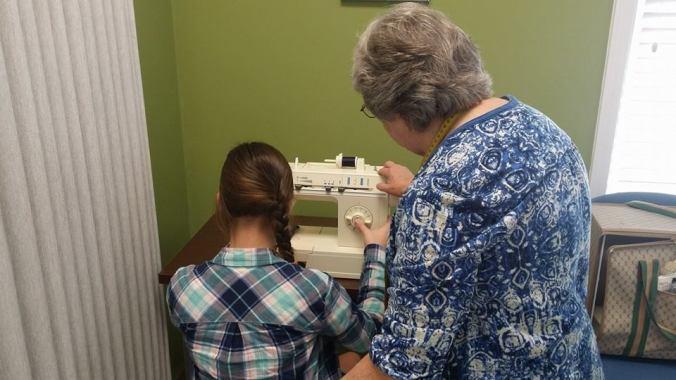 teach sewing