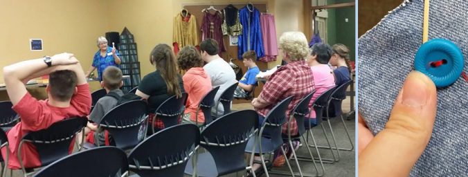 teaching sewing class